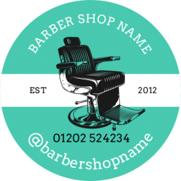 Barber Sticker - Chair Design