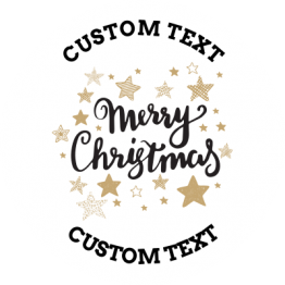 Christmas Sticker - Gold Stars