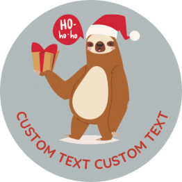 Christmas Sticker - Festive Sloth