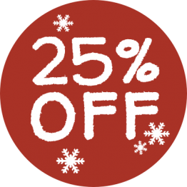 Christmas Sticker - Snowflakes 25%