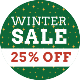 Christmas Sticker - Winter Sale Green