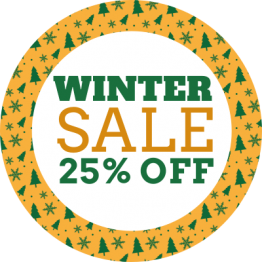 Christmas Sticker - Winter Sale Yellow