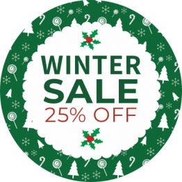 Christmas Sticker - Winter Sale Green 2