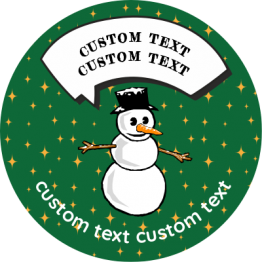 Christmas Sticker - Talking Snowman