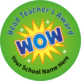 Head Teacher Wow Stickers