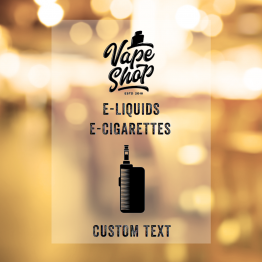 Vapeshop - Simple Window Sticker