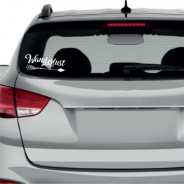 Wanderlust Arrow Window Sticker