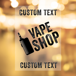 Vapeshop - Giant Text Design