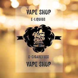 Vapeshop - Cloud Window Sticker