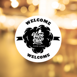 Vapeshop - Welcome Sign