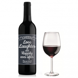 Love Laughter Wine Bottle Design