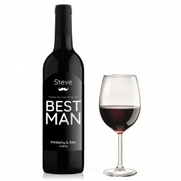 Best Man Thank You Wine Bottle Design