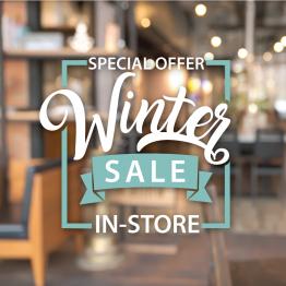 Winter Sale Vinyl Window Sticker