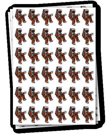 Single Design Sticker Sheets