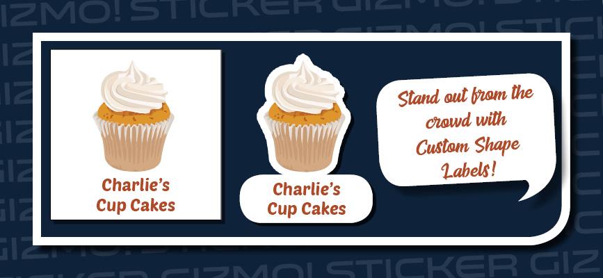 Custom shape cupcake